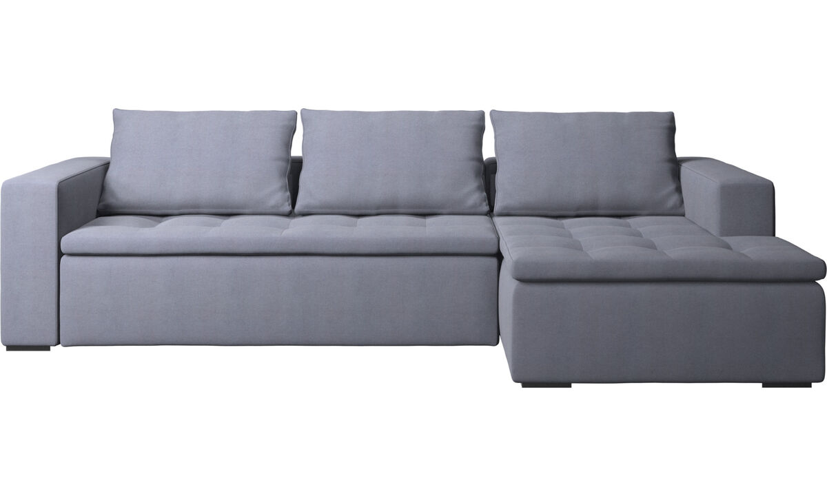 Chaise longue sofas - Mezzo sofa with resting unit - Blue - Fabric