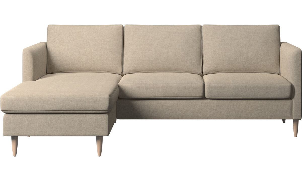 Chaise longue sofas - Indivi sofa with resting unit - Beige - Fabric
