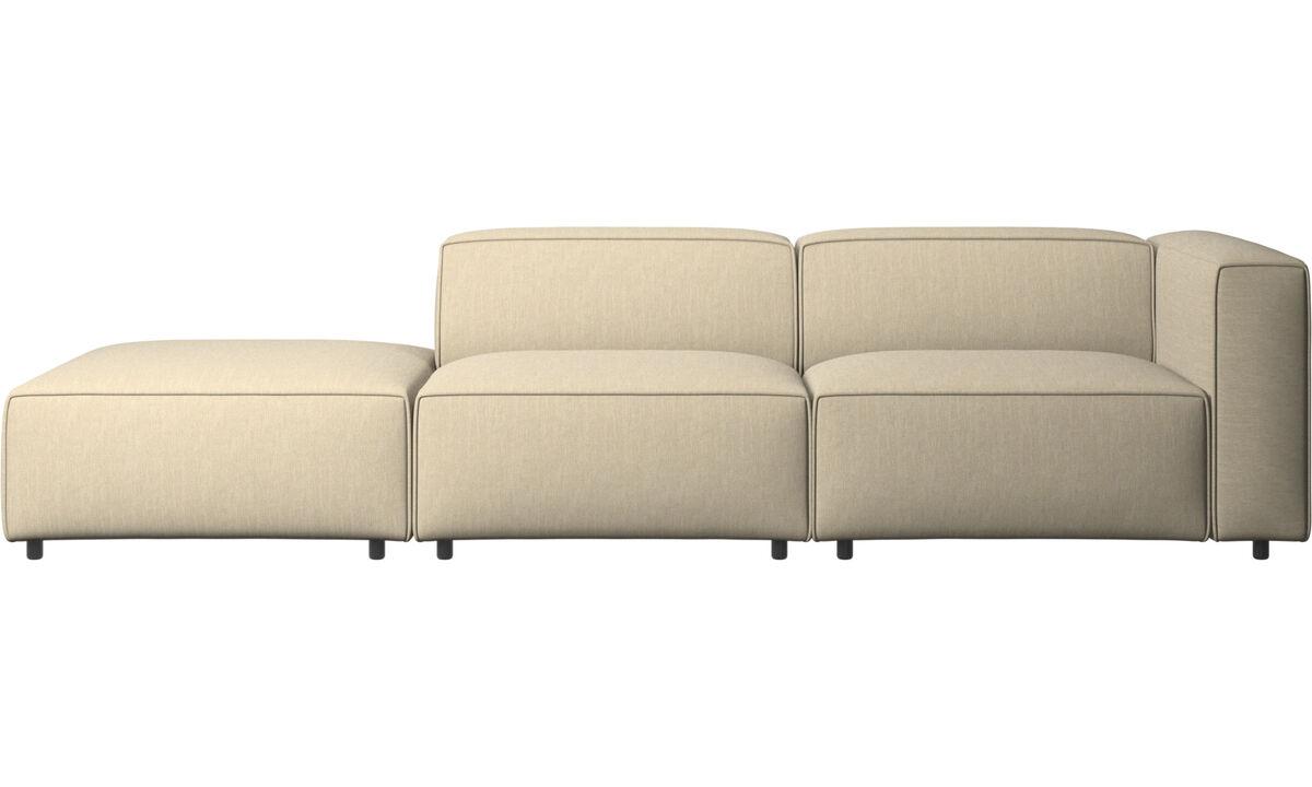 Modulære sofaer - Carmo sofa med loungemodul - Brun - Stof