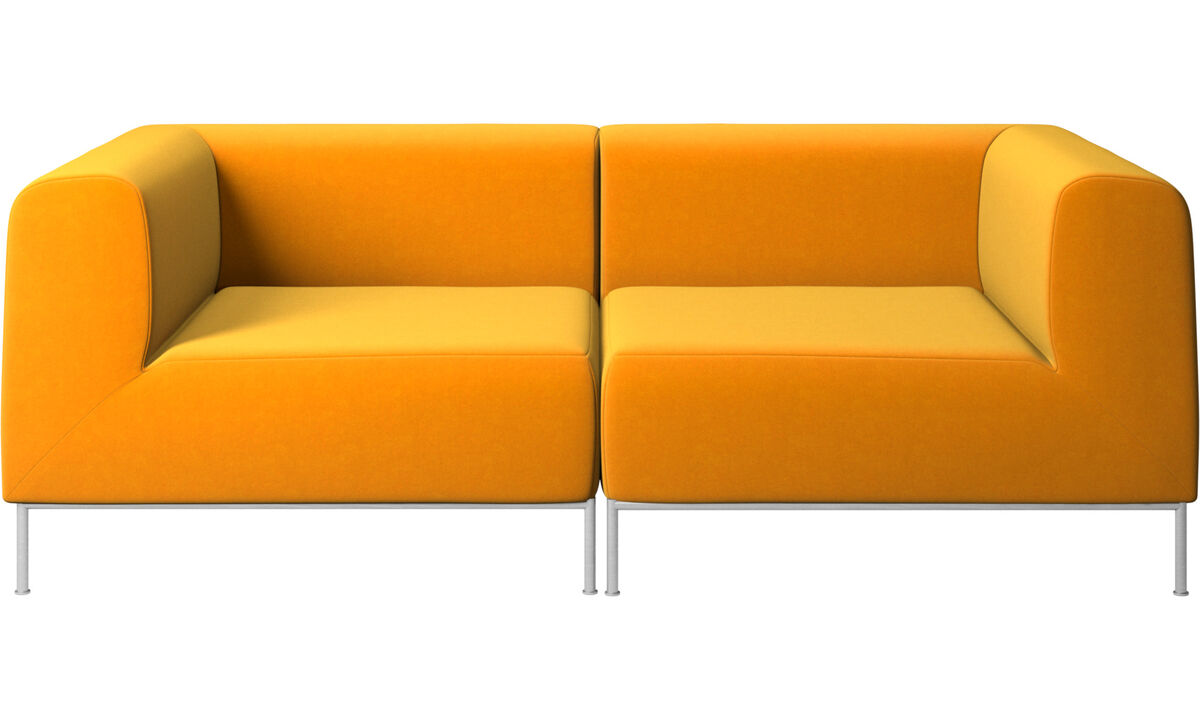 2 seater sofas - Miami sofa - Orange - Fabric