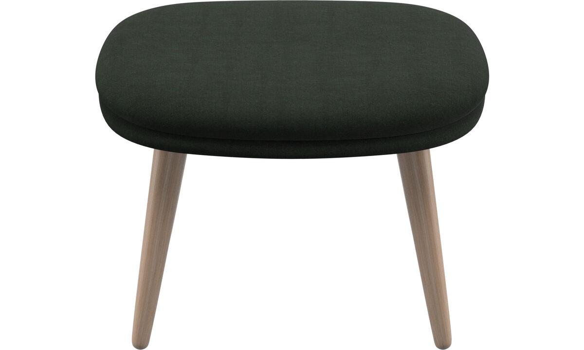Footstools - Adelaide footstool - Green - Fabric