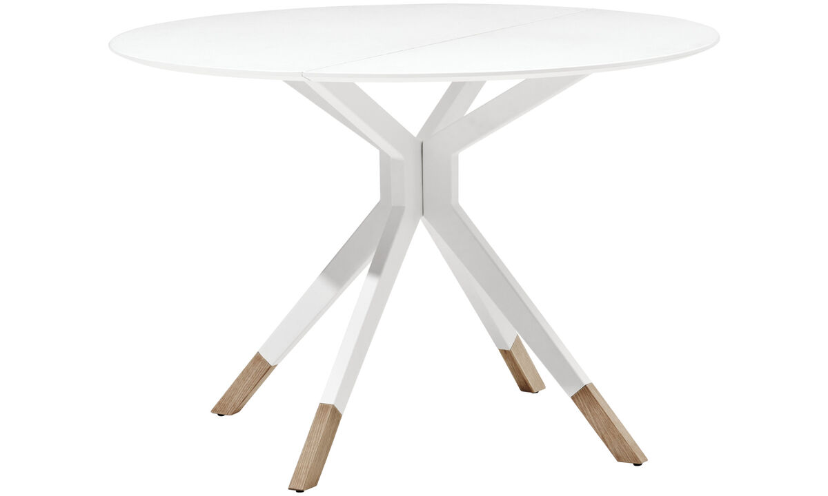 Dining tables - masa Billund - rotund - Alb - Lăcuit