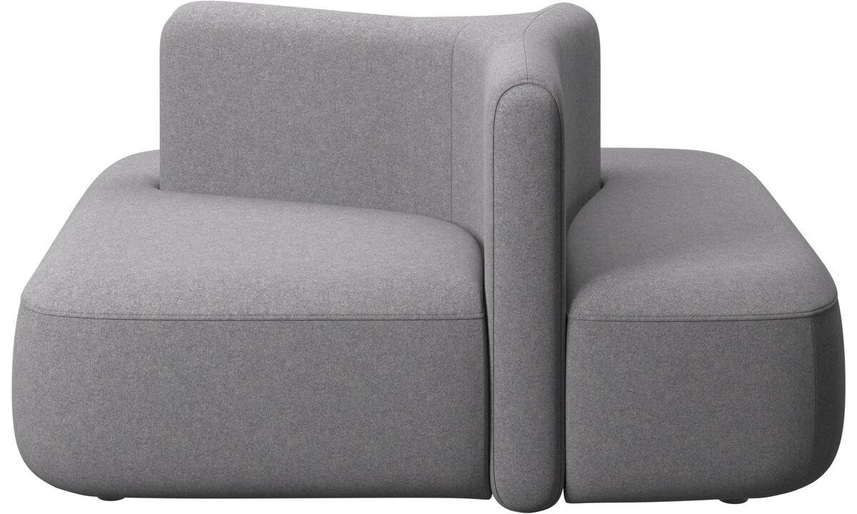 Модульные диваны - Ottawa с квадратной низкой спинкой - Серого цвета - Tкань