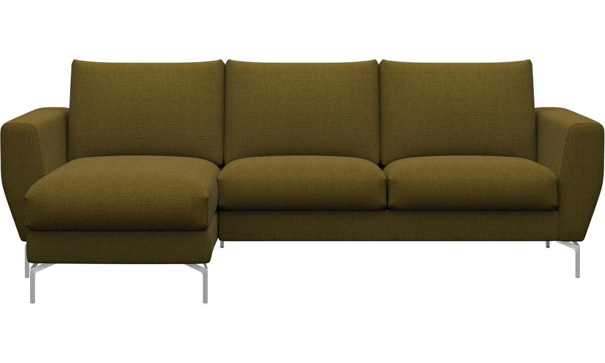 Divaanisohvat - Nice-sohva, sisältää lepomoduulin - Keltainen - Kangas