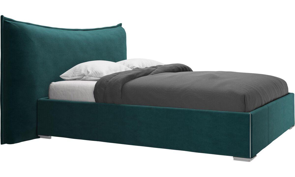 Nuevas camas - Cama Gent, no incluye colchón - En azul - Tela