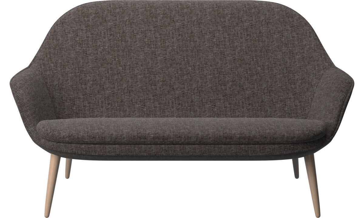 2 seater sofas - Adelaide sofa - Brown - Fabric