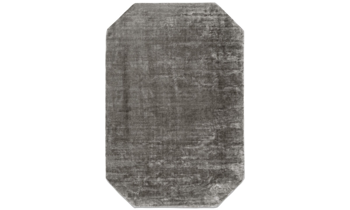 Round rugs - Shanghai rug - rectangular - Grey - Fabric