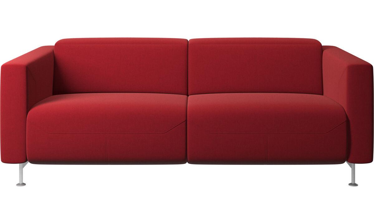 Sofás reclináveis - Sofá reclinável Parma - Vermelho - Tecido