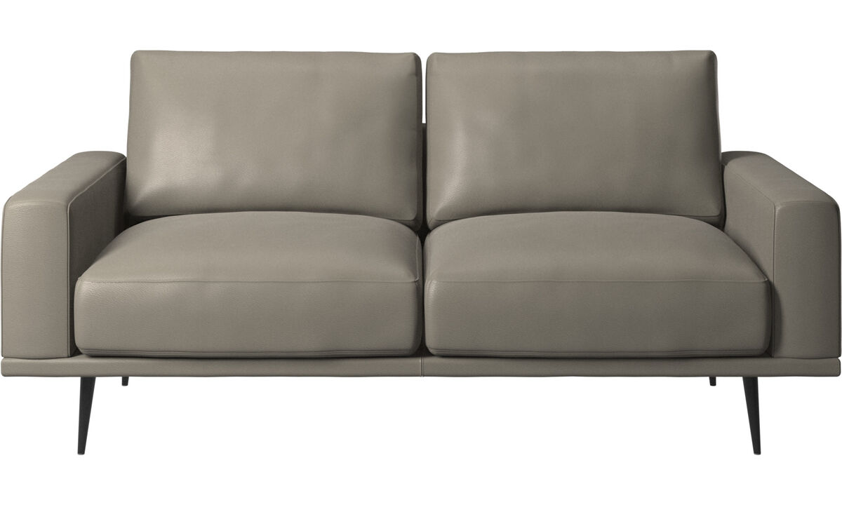 2 seater sofas - Carlton sofa - Grey - Leather