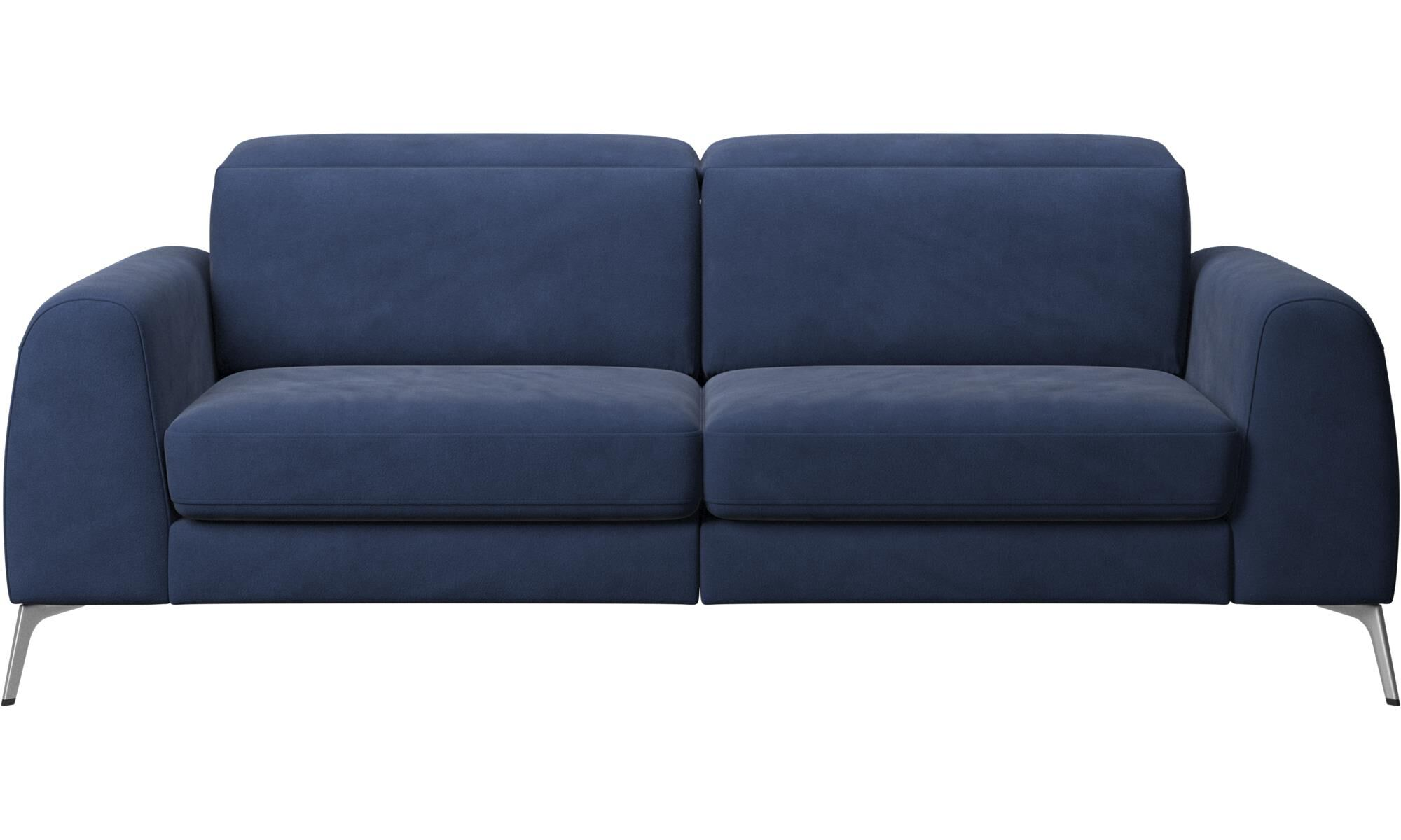 sofa beds madison sofa with sleeper function and manual headrest blue fabric