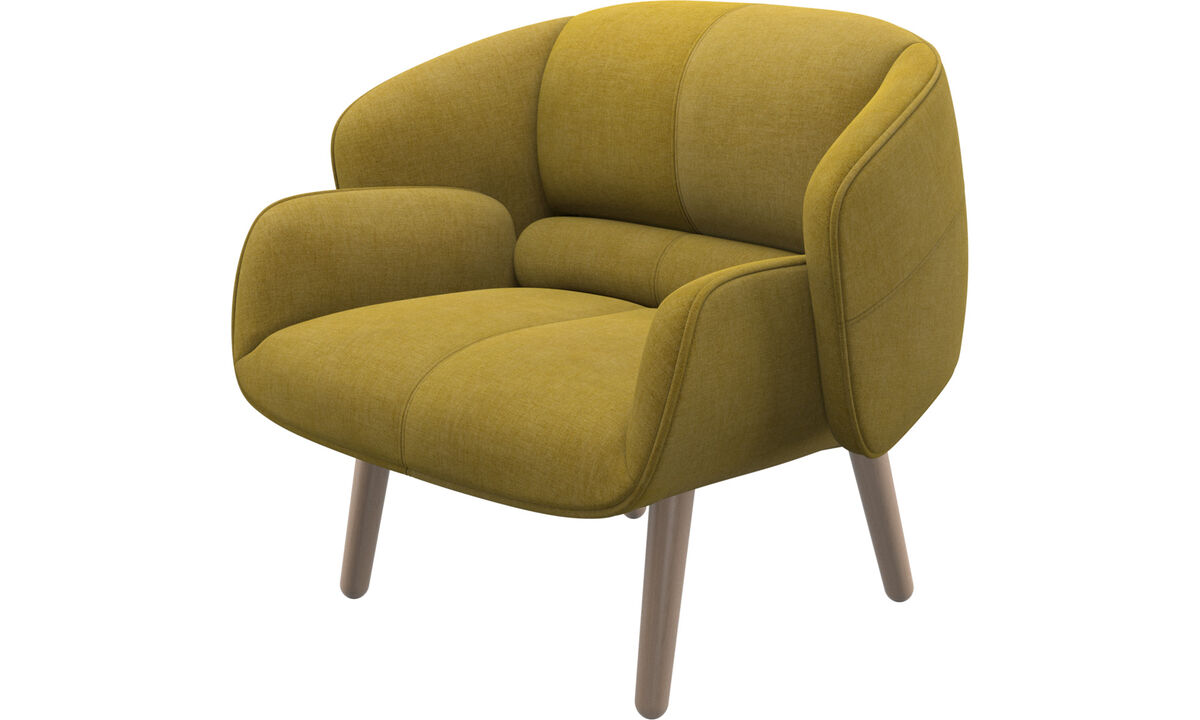 Armchairs - fusion chair - Yellow - Fabric