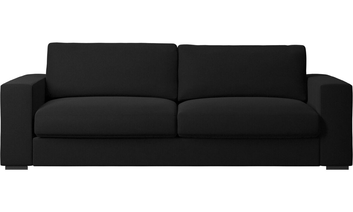Modern 3 seater sofas contemporary design from boconcept for Black fabric couches