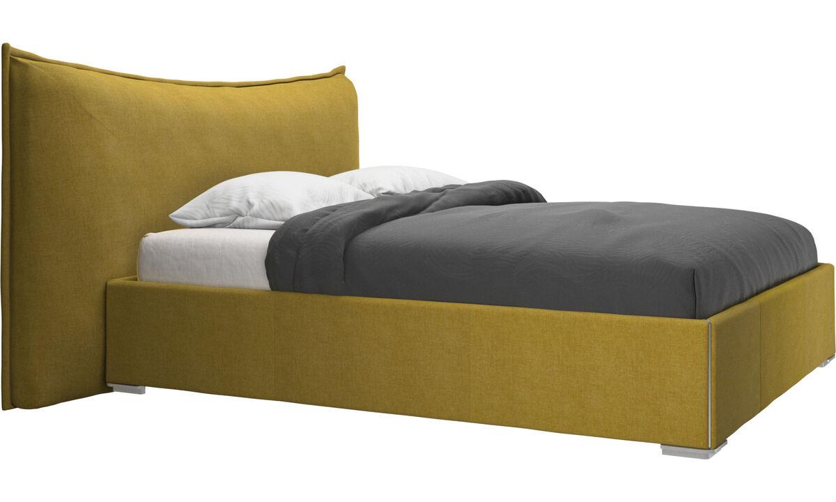 Camas - cama Gent, no incluye colchón - En amarillo - Tela