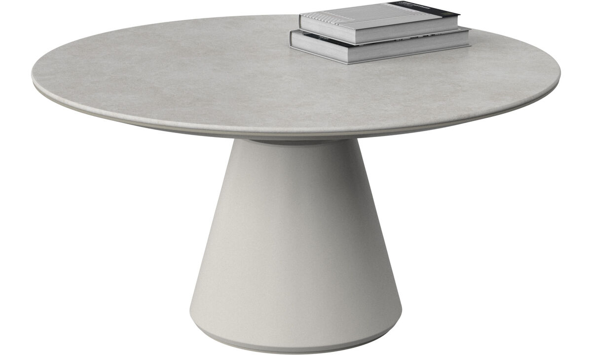 Coffee tables - Madrid coffee table - round - Grey - Ceramic
