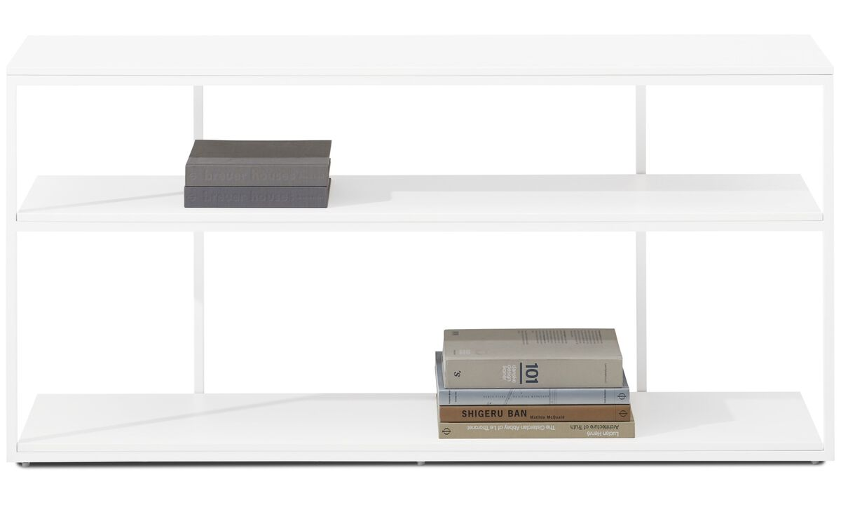Wall systems - Bordeaux console table - rectangular - White - Lacquered