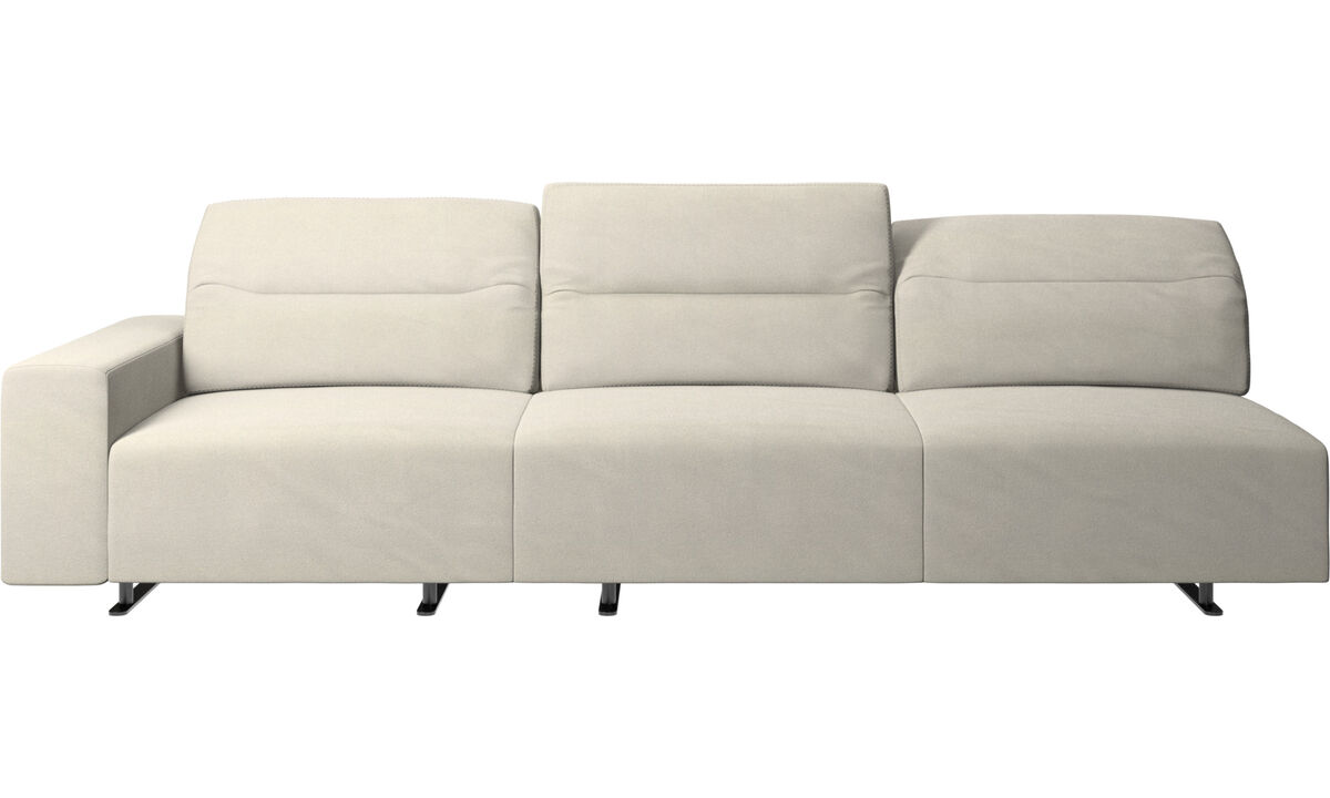 3 seater sofas - Hampton sofa with adjustable back - White - Fabric