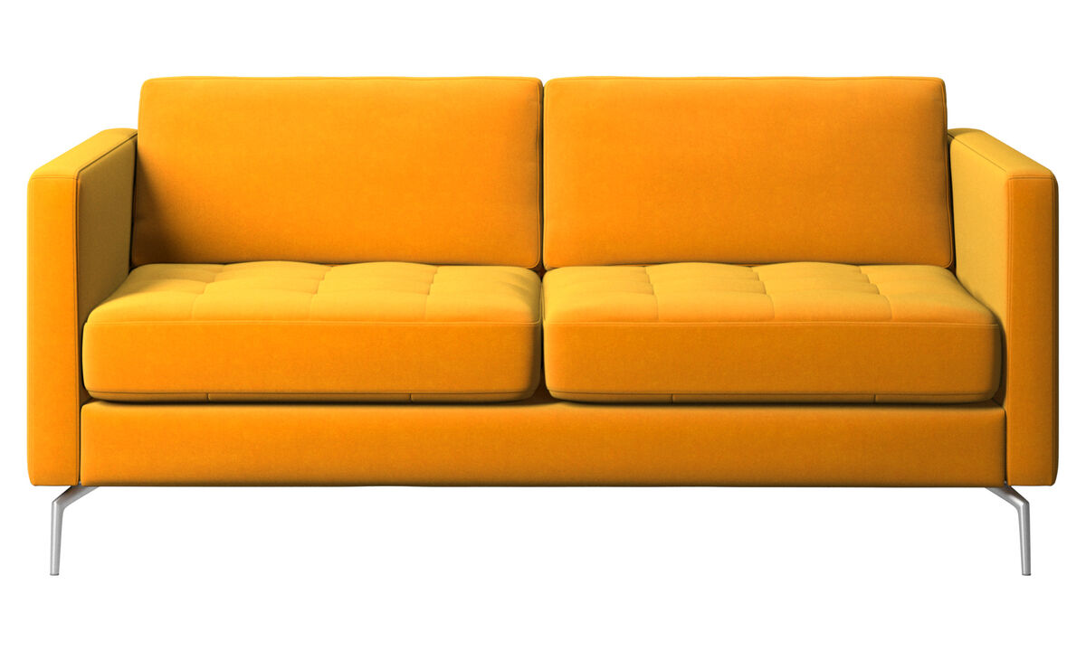 2-sitzer Sofas - Osaka Sofa, getuftete Sitzfläche - Orange - Stoff