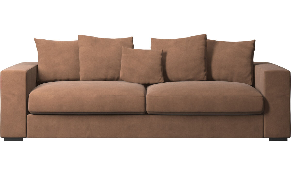 3 seater sofas - Cenova sofa - Brown - Fabric