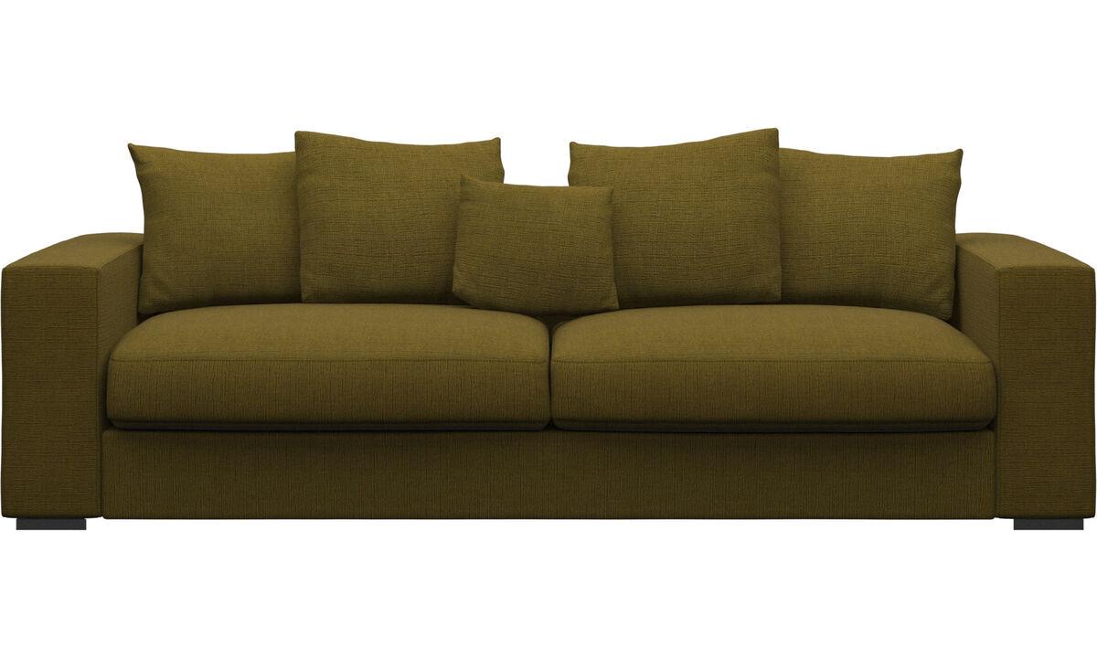 3 seater sofas - Cenova sofa - Yellow - Fabric