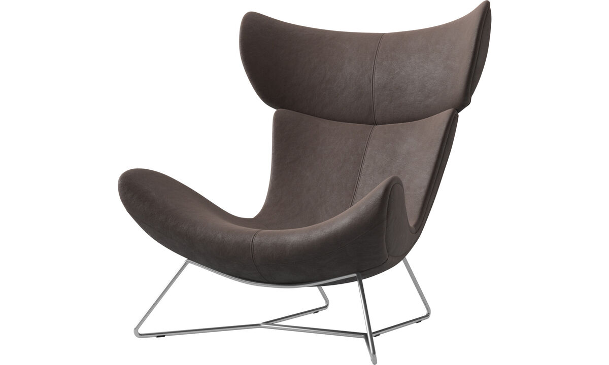 Armchairs - Imola chair - Brown - Leather