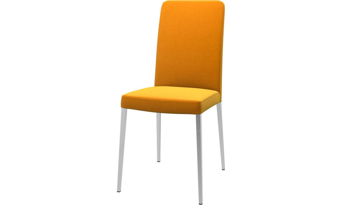 Dining chairs - Nico chair - Orange - Fabric