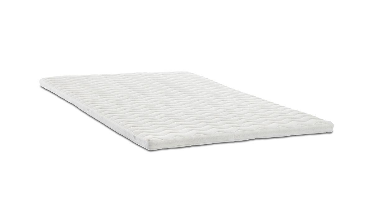 Matelas - surmatelas Comfort - Blanc - Tissu