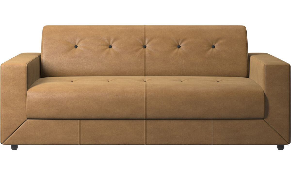 Sofa beds - Stockholm sofa bed - Brown - Leather