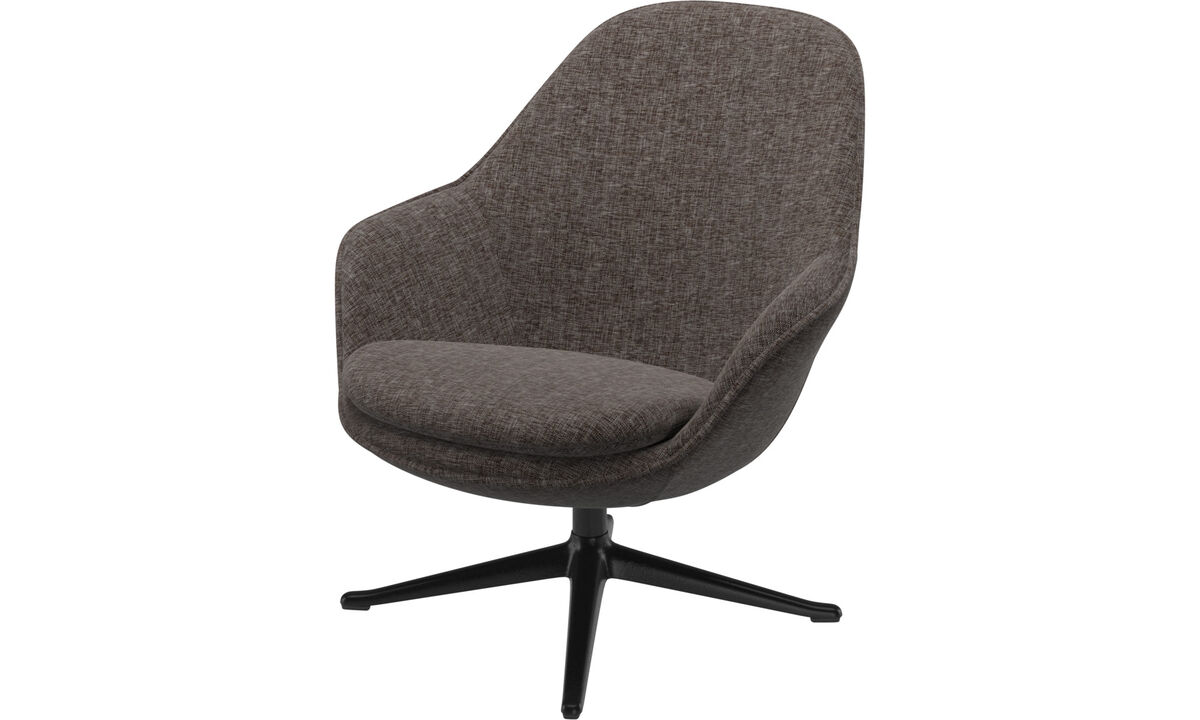 Armchairs - Adelaide living chair - Brown - Fabric