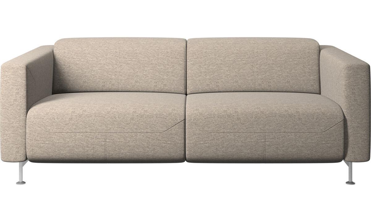 Двухместные диваны - Диван-реклайнер Parma - Бежевого цвета - Tкань
