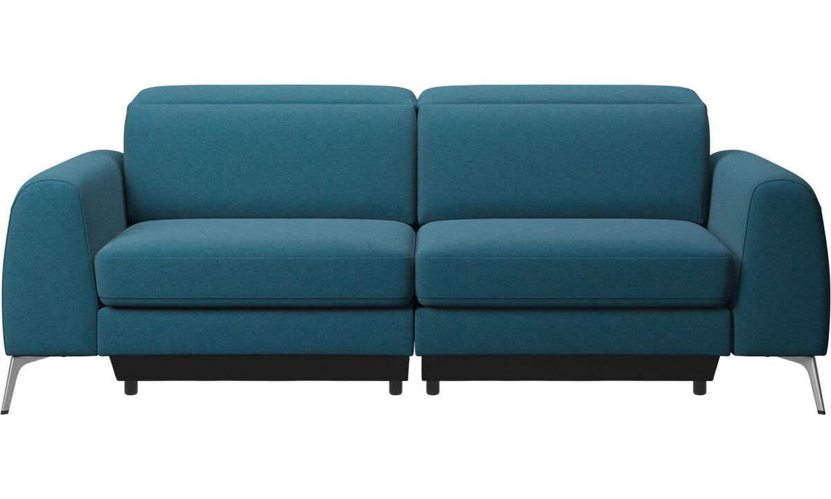 3 seater sofas - Madison sofa with adjustable headrest - Blue - Fabric