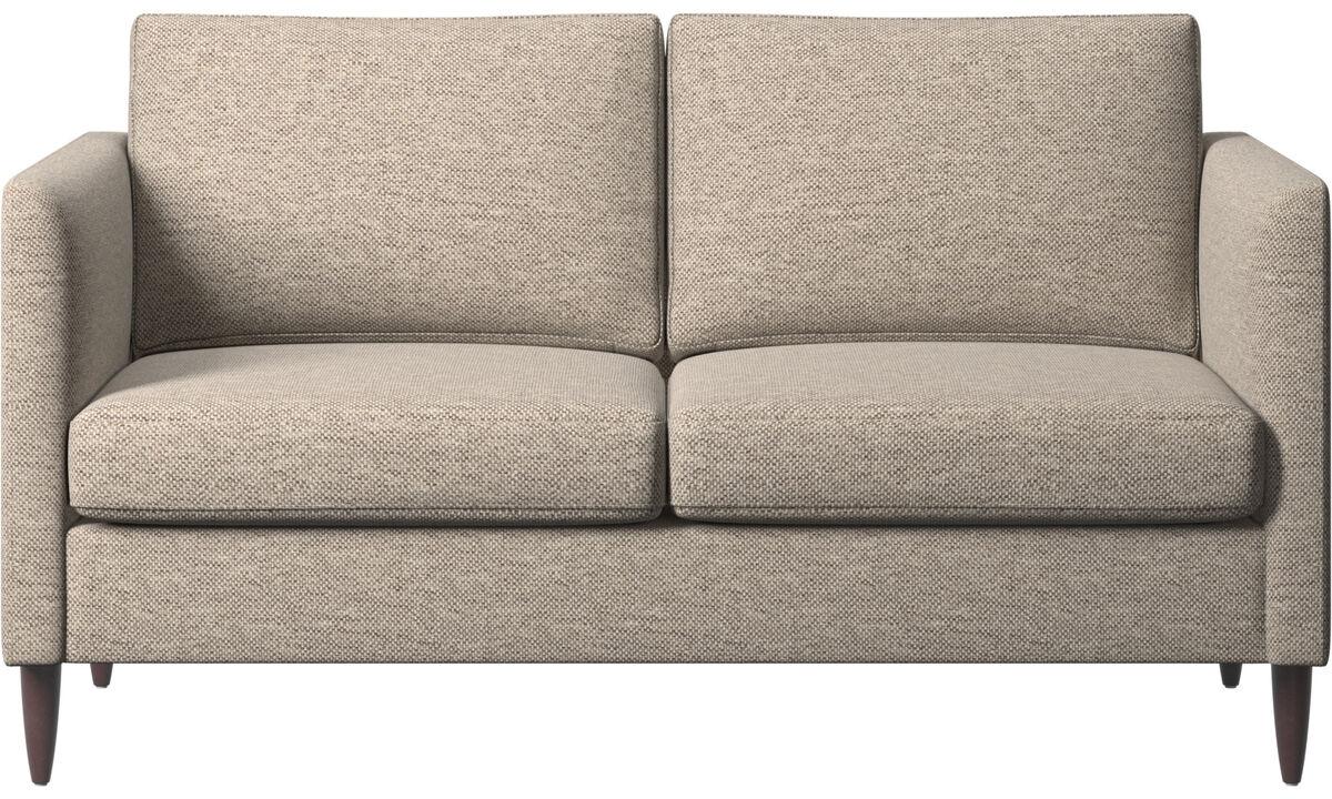 Sofás de 2 plazas - sofá Indivi - En beige - Tela