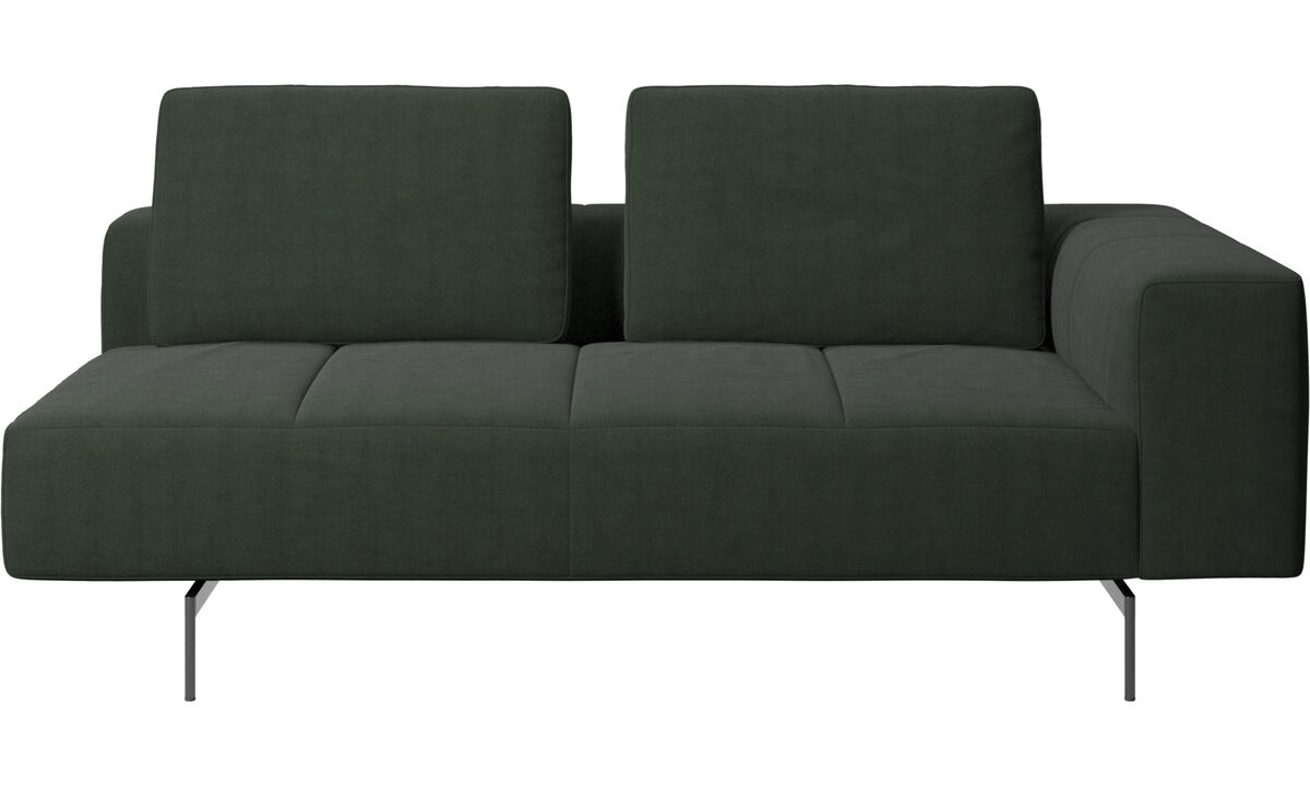 Modular sofas - Amsterdam 2,5 seating module, armrest right - Green - Fabric