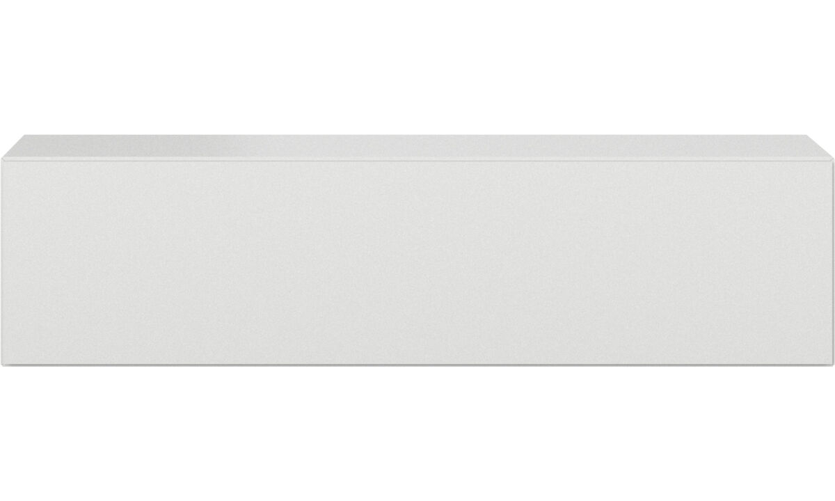 Tv units - Lugano wall mounted cabinet with drop down door - White - Lacquered