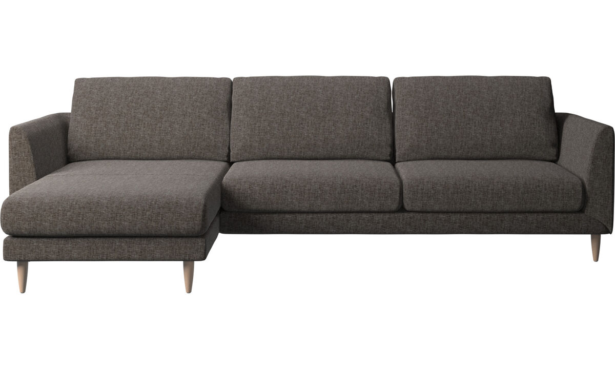 Chaise lounge sofas - Fargo sofa with resting unit - Brown - Fabric