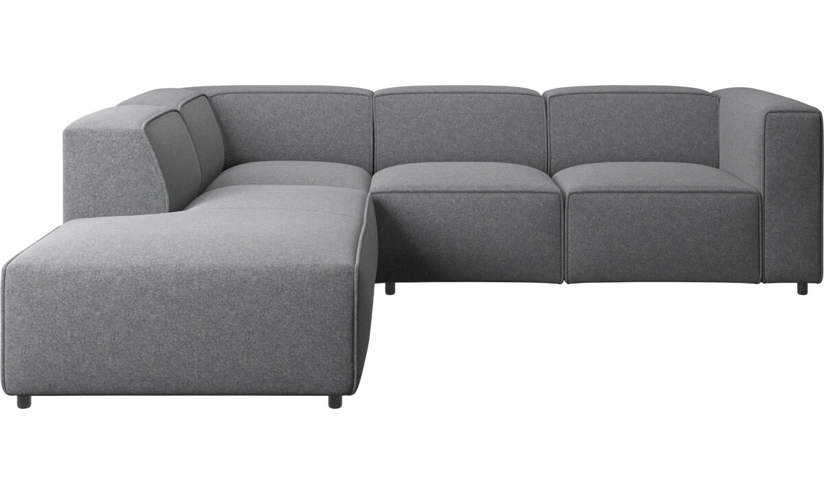 Recliner sofas - Carmo motion corner sofa - Grey - Fabric
