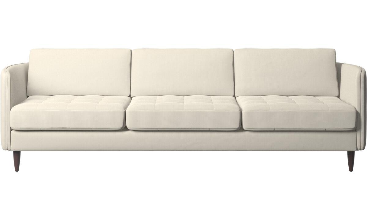 3 seater sofas - Osaka sofa, tufted seat - White - Fabric