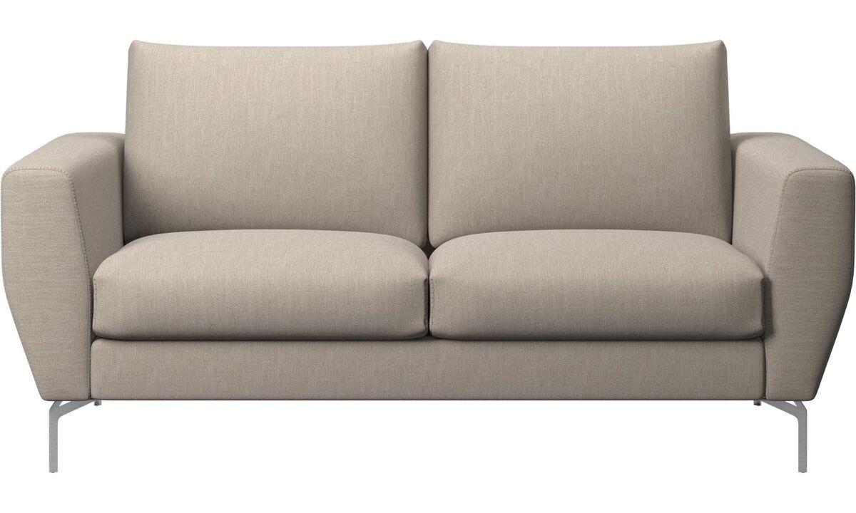 2 seater sofas - Nice sofa - Brown - Fabric