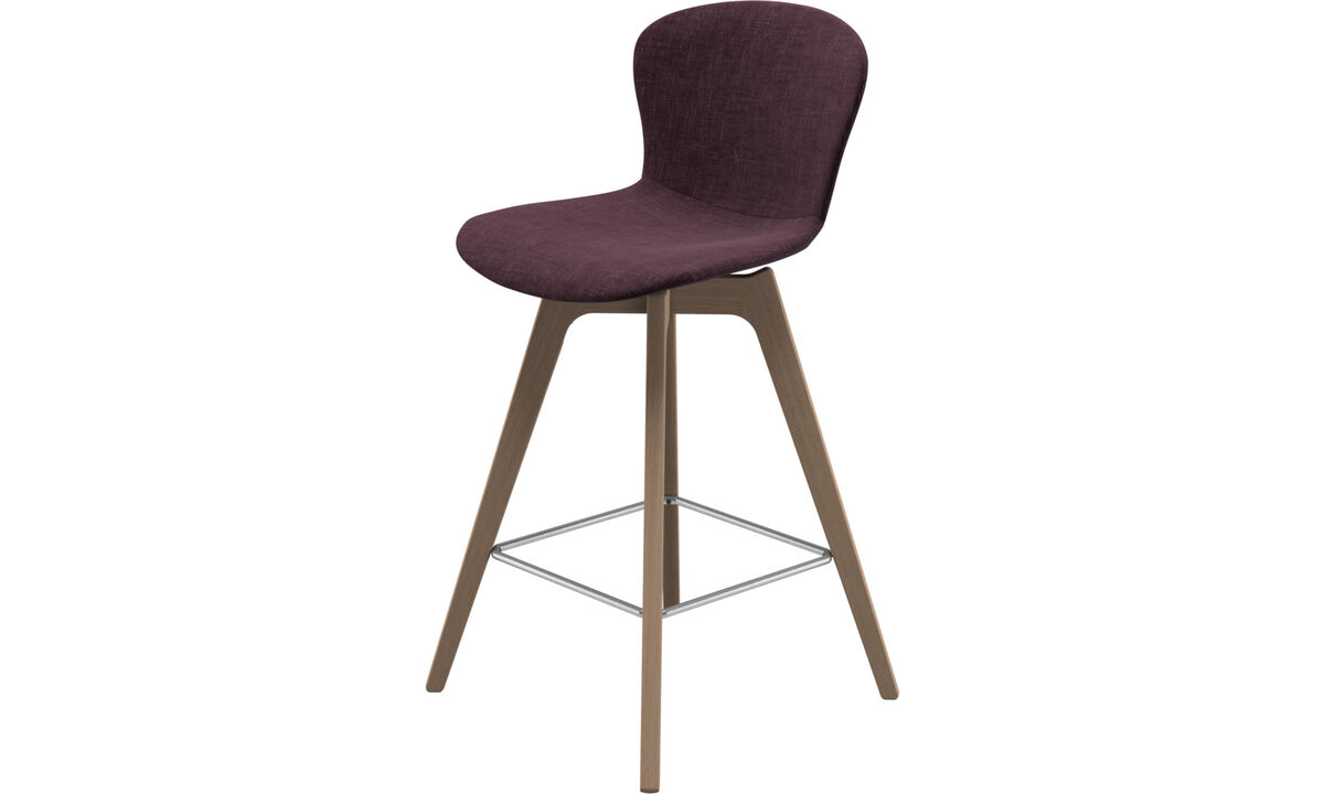 Tabourets de bar - chaise de bar Adelaide - Rouge - Tissu