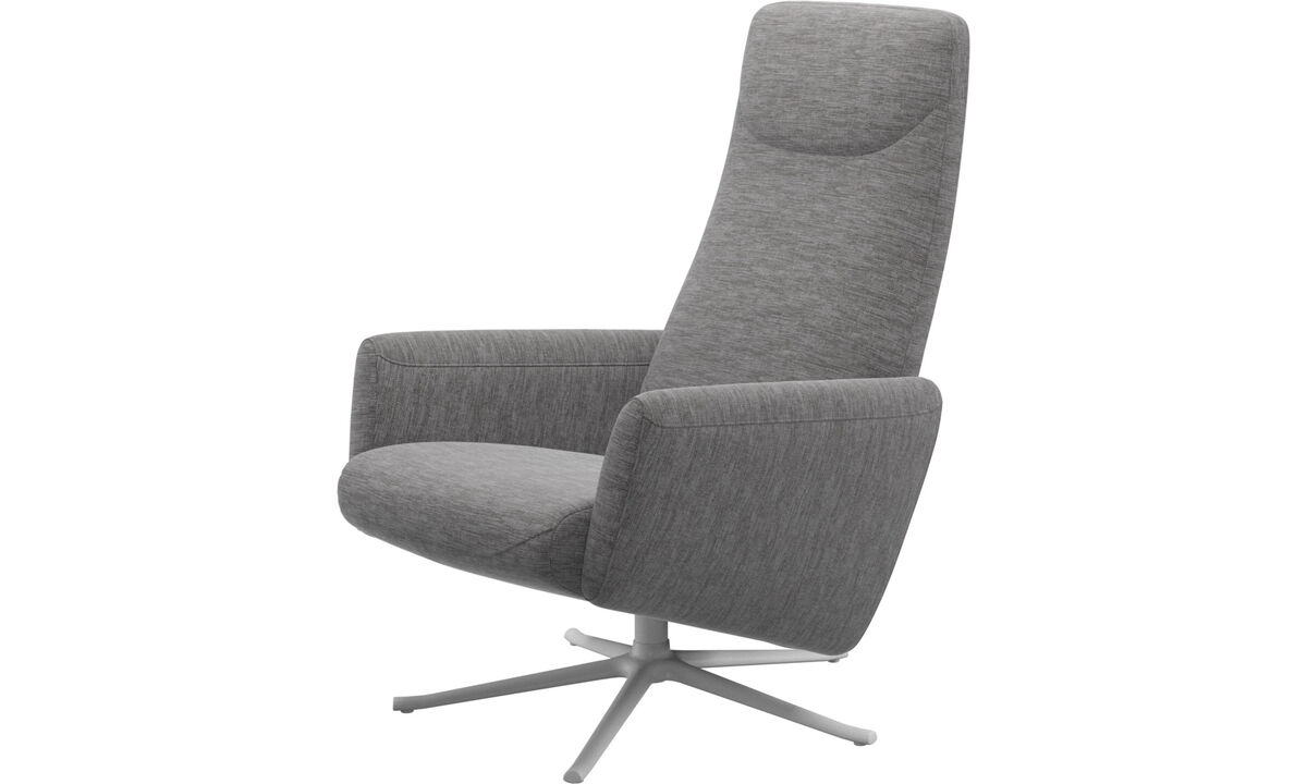 Butacas reclinables - Butaca reclinable Lucca con función giratoria - En gris - Tela