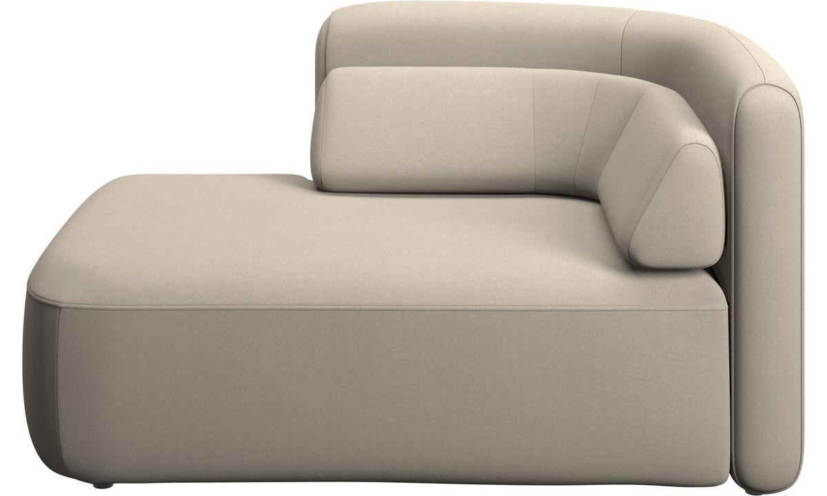 Modulære sofaer - Ottawa 1,5 personers open end venstre side - Beige - Stof