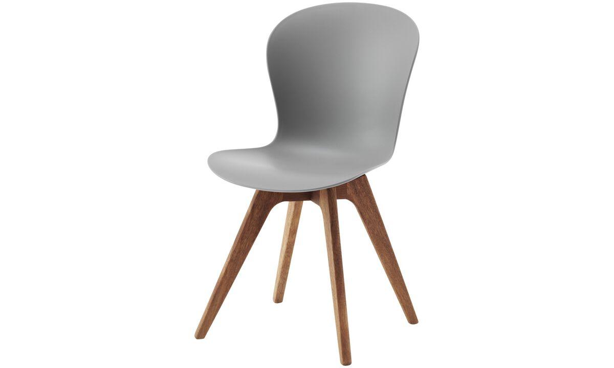 Sillas de comedor - Silla Adelaide (apta para uso interior y exterior) - En gris - Plástico