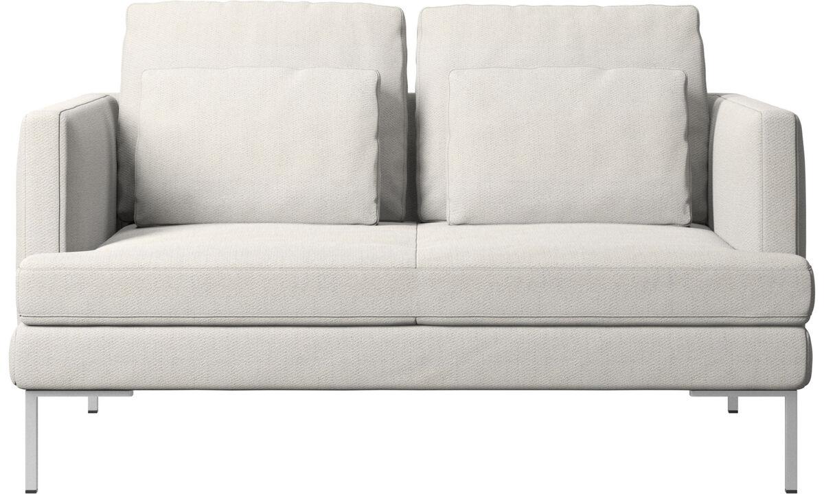 2 seater sofas - Istra 2 sofa - White - Fabric