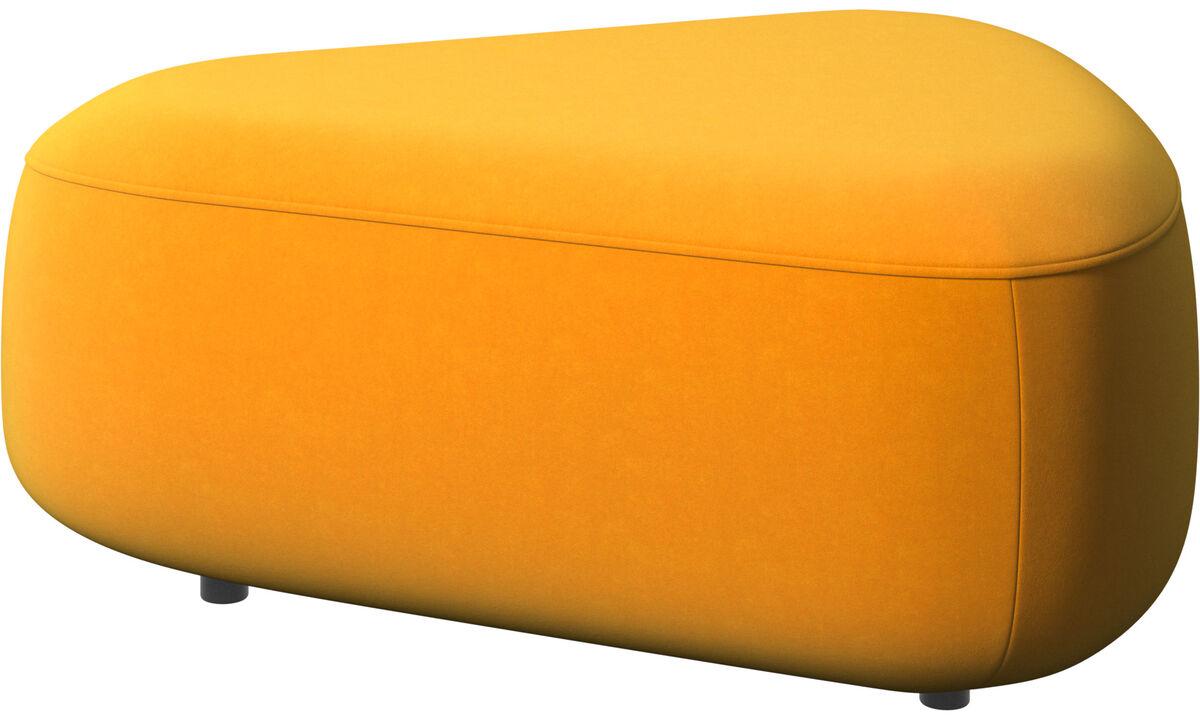 Pufs - Puf triangular Ottawa - Naranja - Tela