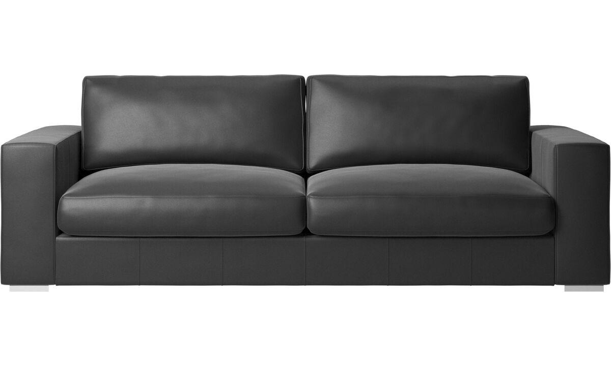 3 seater sofas - Cenova sofa - Black - Leather