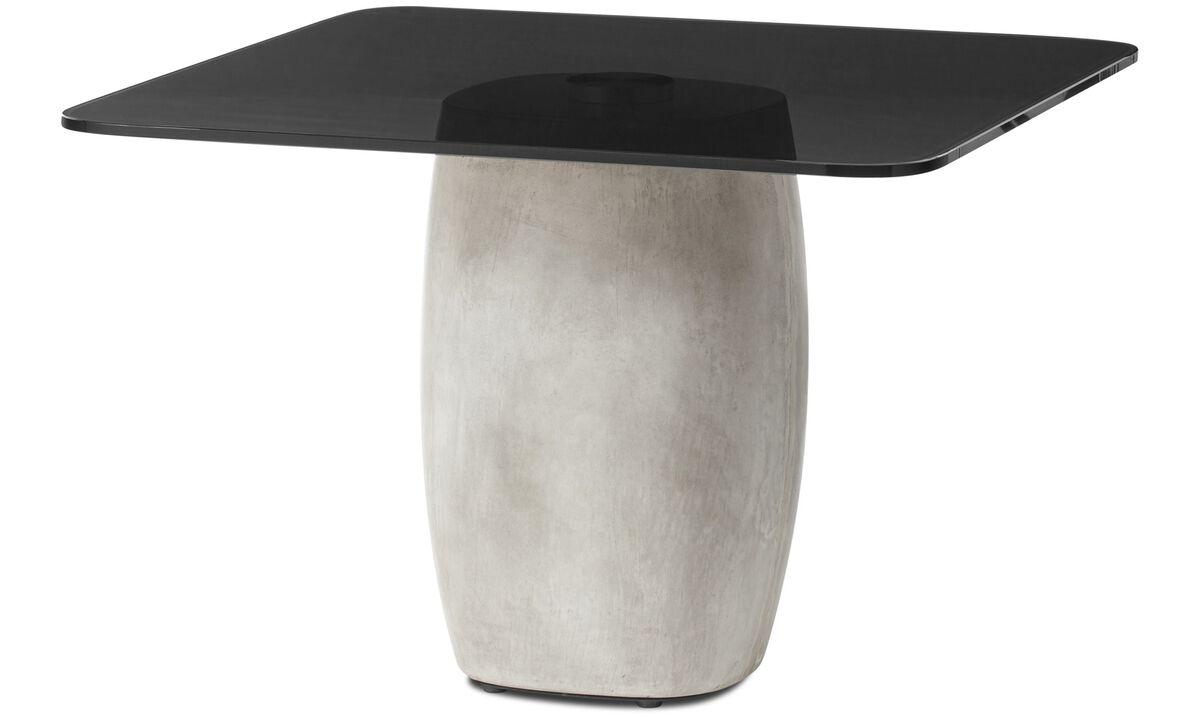 Coffee tables - Bilbao tavolino - quadrata - Grigio - Cristallo