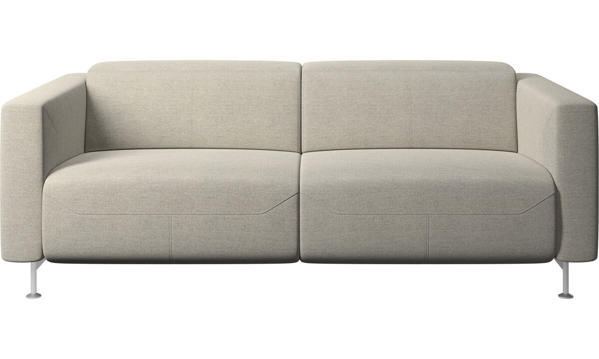 2 seater sofas - Parma reclining sofa - Beige - Fabric