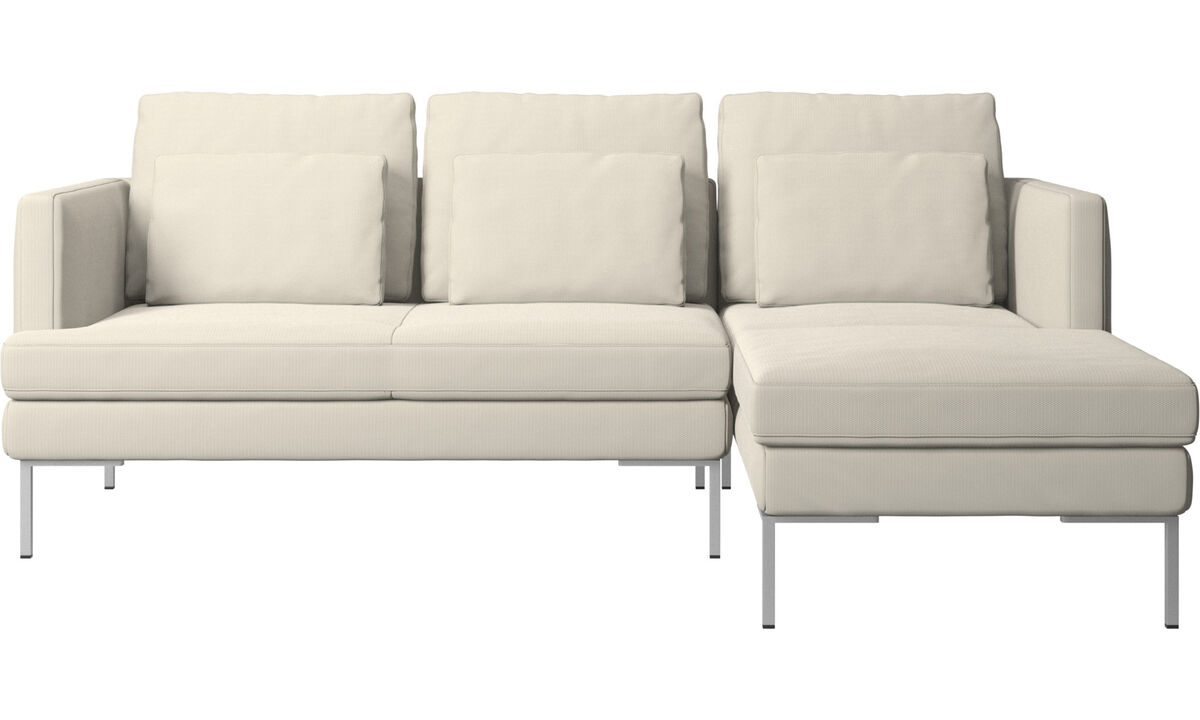 3 seater sofas - Istra 2 sofa with resting unit - White - Fabric