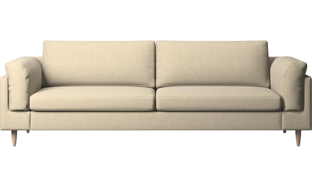 Háromszemélyes kanapék - Indivi kanapé - Barna - Huzat