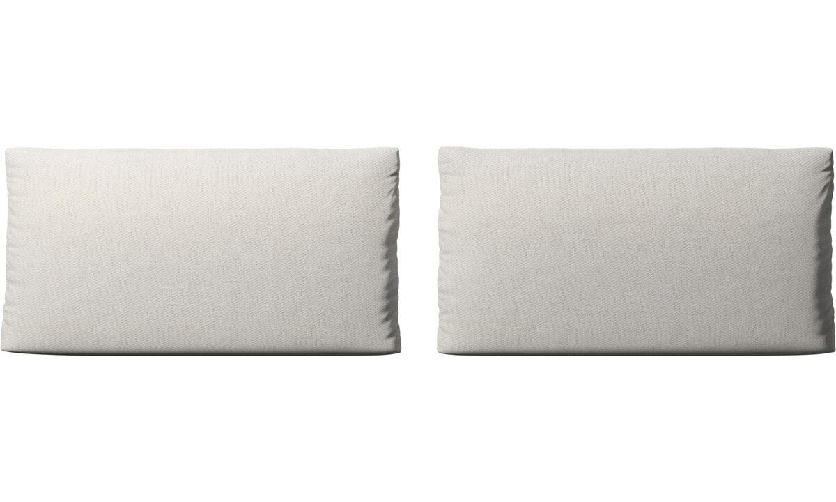 Furniture accessories - Nantes sofa cushions - White - Fabric