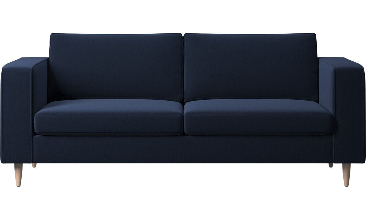 2.5 seater sofas - Indivi 2 sofa - Blue - Fabric